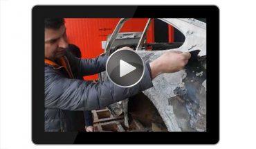 Carblast: Thermische Entlackung im Pyrolyse-Ofen. Video: M. Rehm