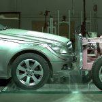 Großer Karosserieschaden auch bei sehr niedriger Crashgeschwindigkeit