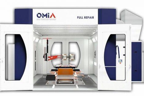 Der französische Lackierkabinenspezialist OMIA präsentiert mit FULL REPAIR eine Anlage, in der kleine und mittlere Reparaturen von der Grundierung bis zum Finish ausgeführt werden