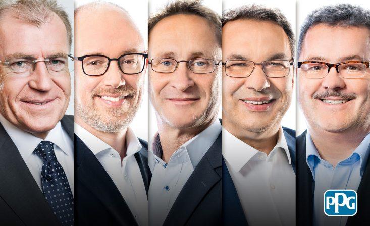 Egon Matich, Torben Beck, Jochen Kleemann, Thomas Leuchten und Krystian Bonk. Foto: PPG