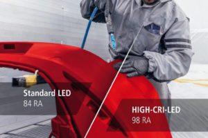 Farbtoncheck wie im Freien dank LED-Technologie